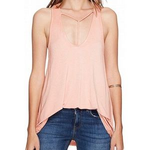 We the Free Amelia Peach Pink Cutout Tank Top XS